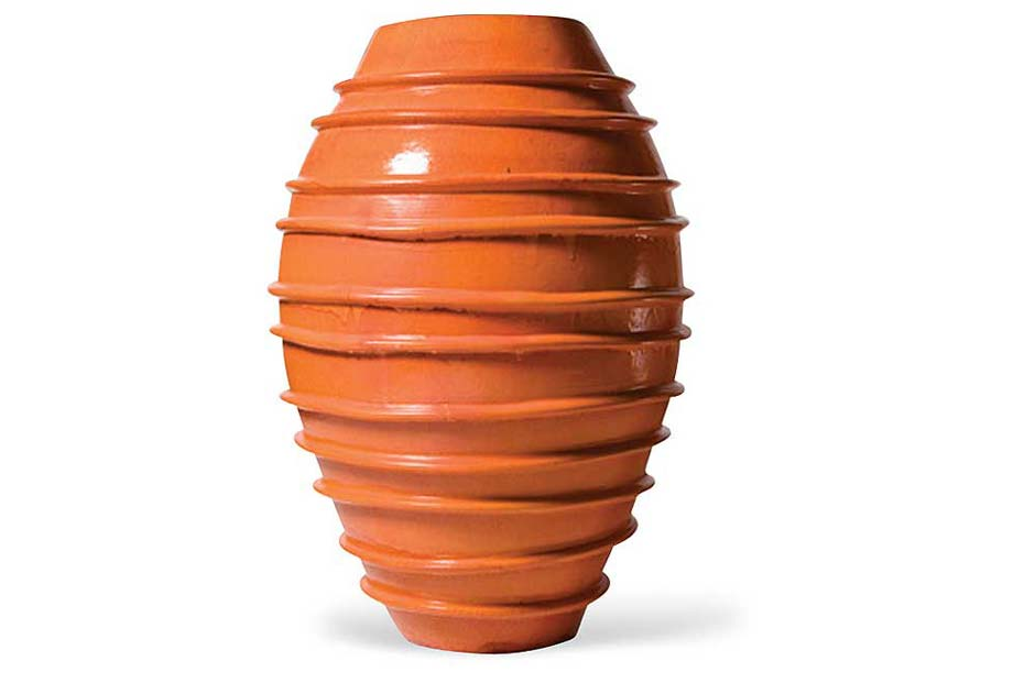 Orange Helter Skelter Vase