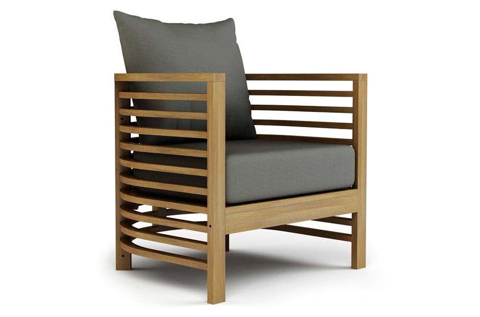 Spirals Teak Lounge Chair - Seasonal Living