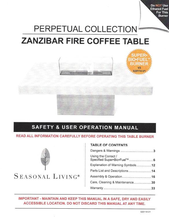Zanzi Coffee Table Zanzibar Flame Coffee Table. Zanzibar Flame Coffee Table Perpetual ...