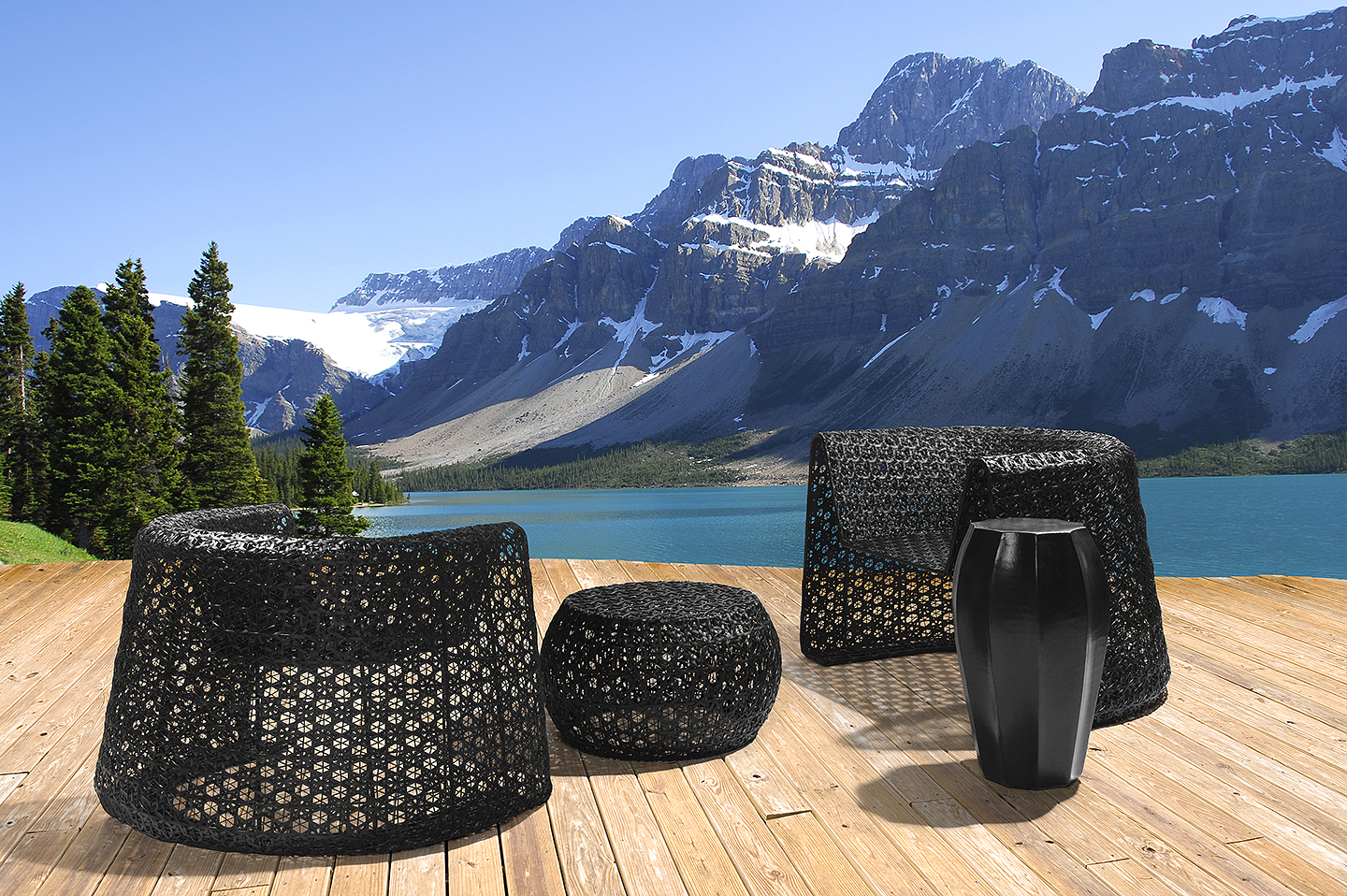 Luxury Indoor Outdoor Furniture: The Black Lace Collection