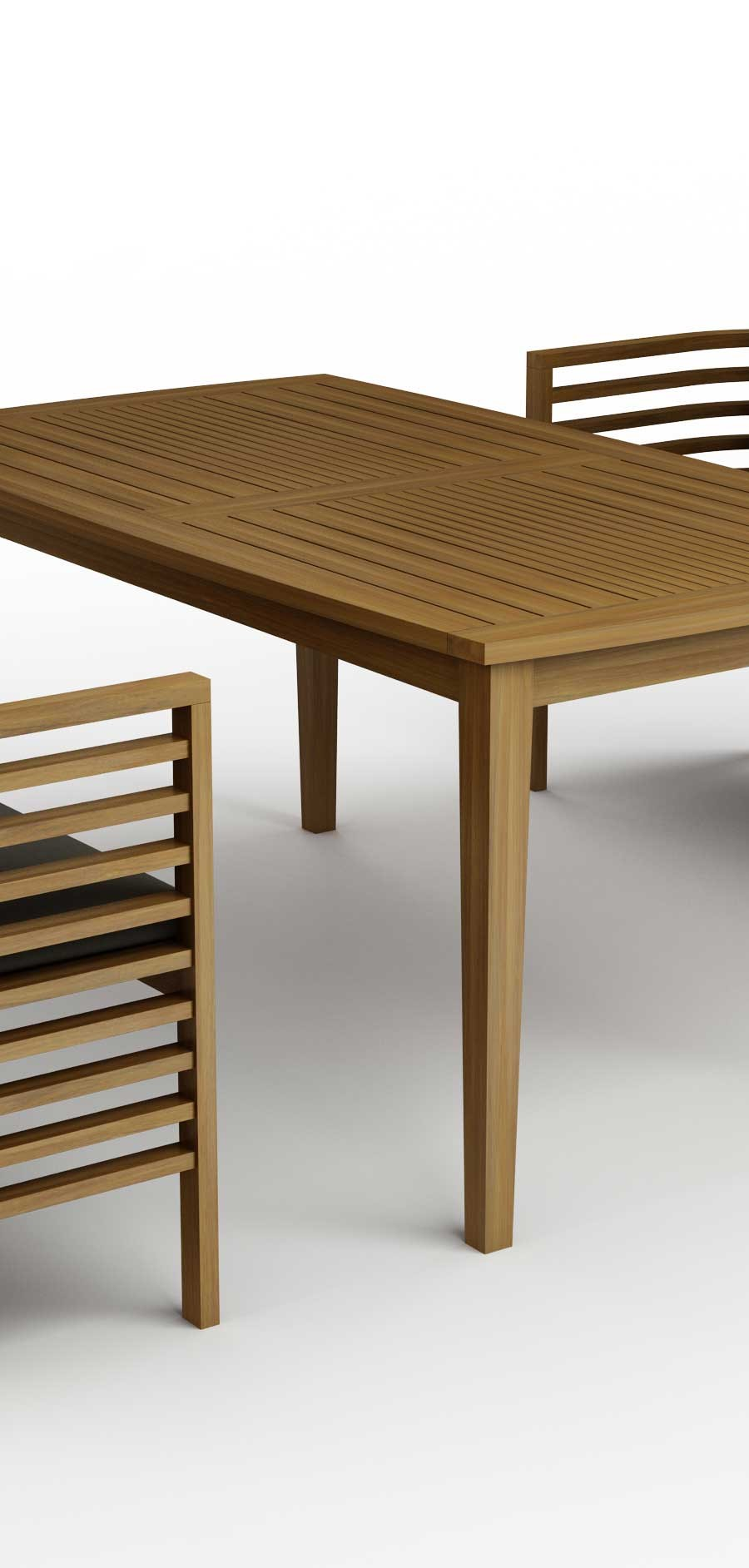 Remarkable Spirals Collection Teak Dining Table Benches Machost Co Dining Chair Design Ideas Machostcouk