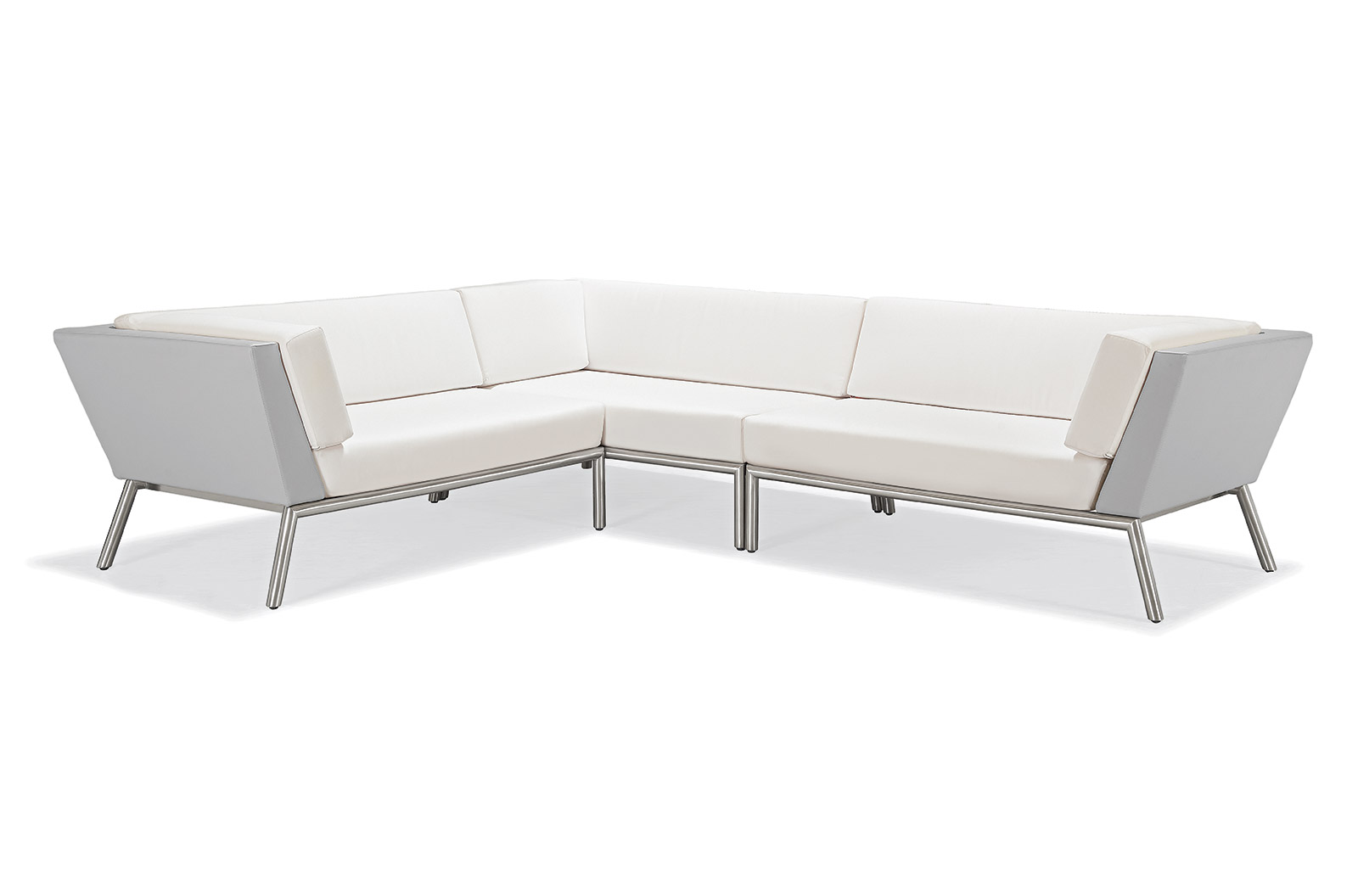 Austin Collection 3 Piece Sectional Natural Right Arm Facing