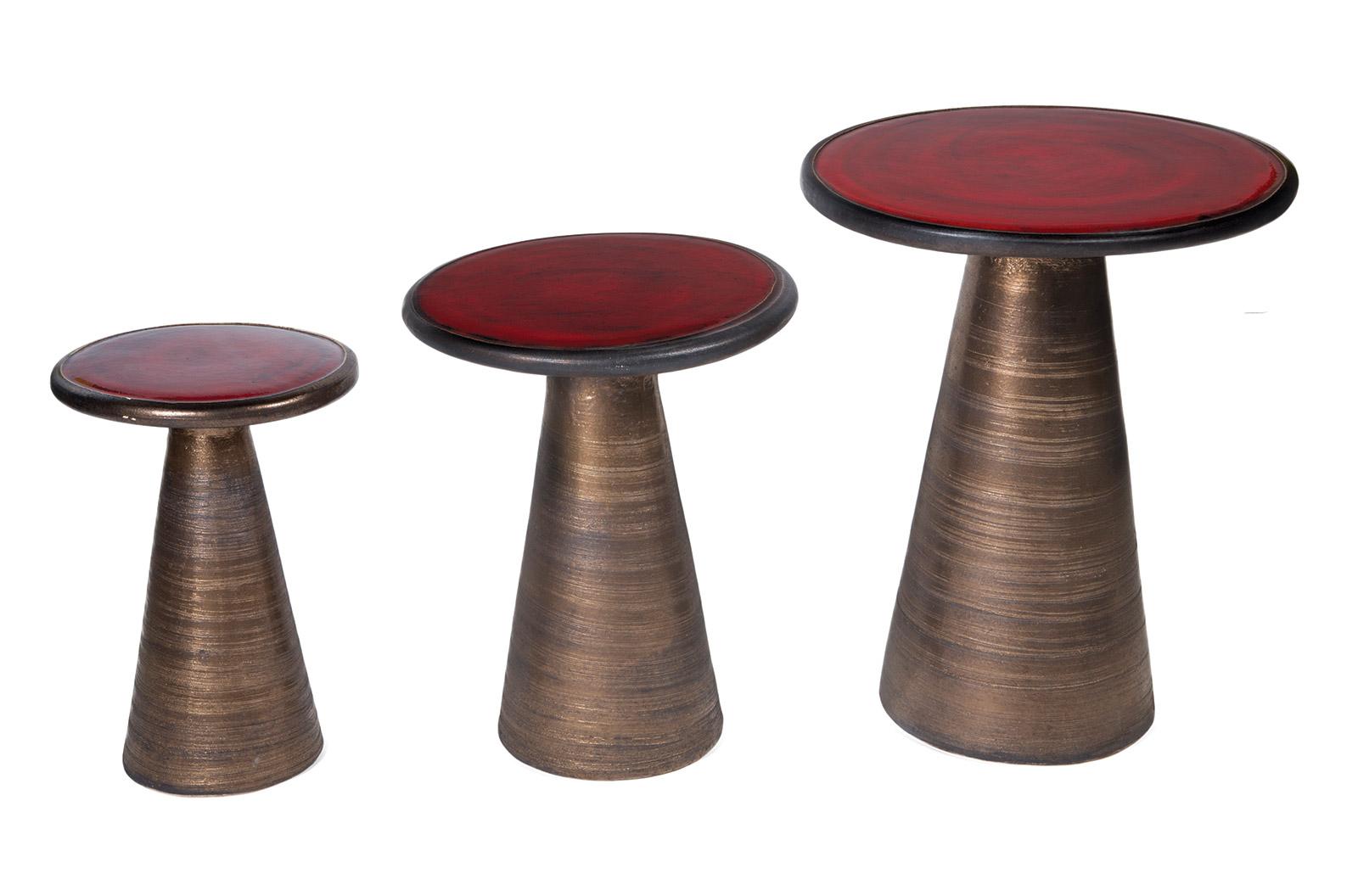 Ceramic Segment Accent Table Set - Seasonal Living