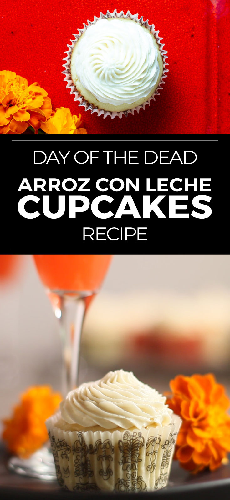 Day of the Dead recipe for arroz con leche cupcakes