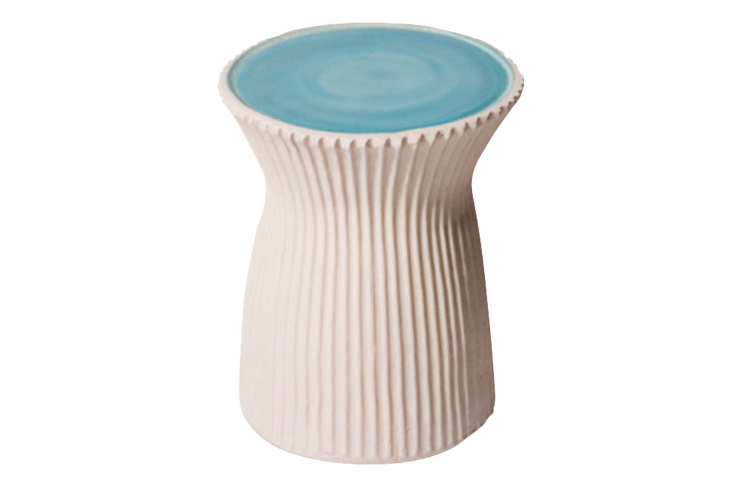 Ceramic ridged stool 308FT226P2TBSW