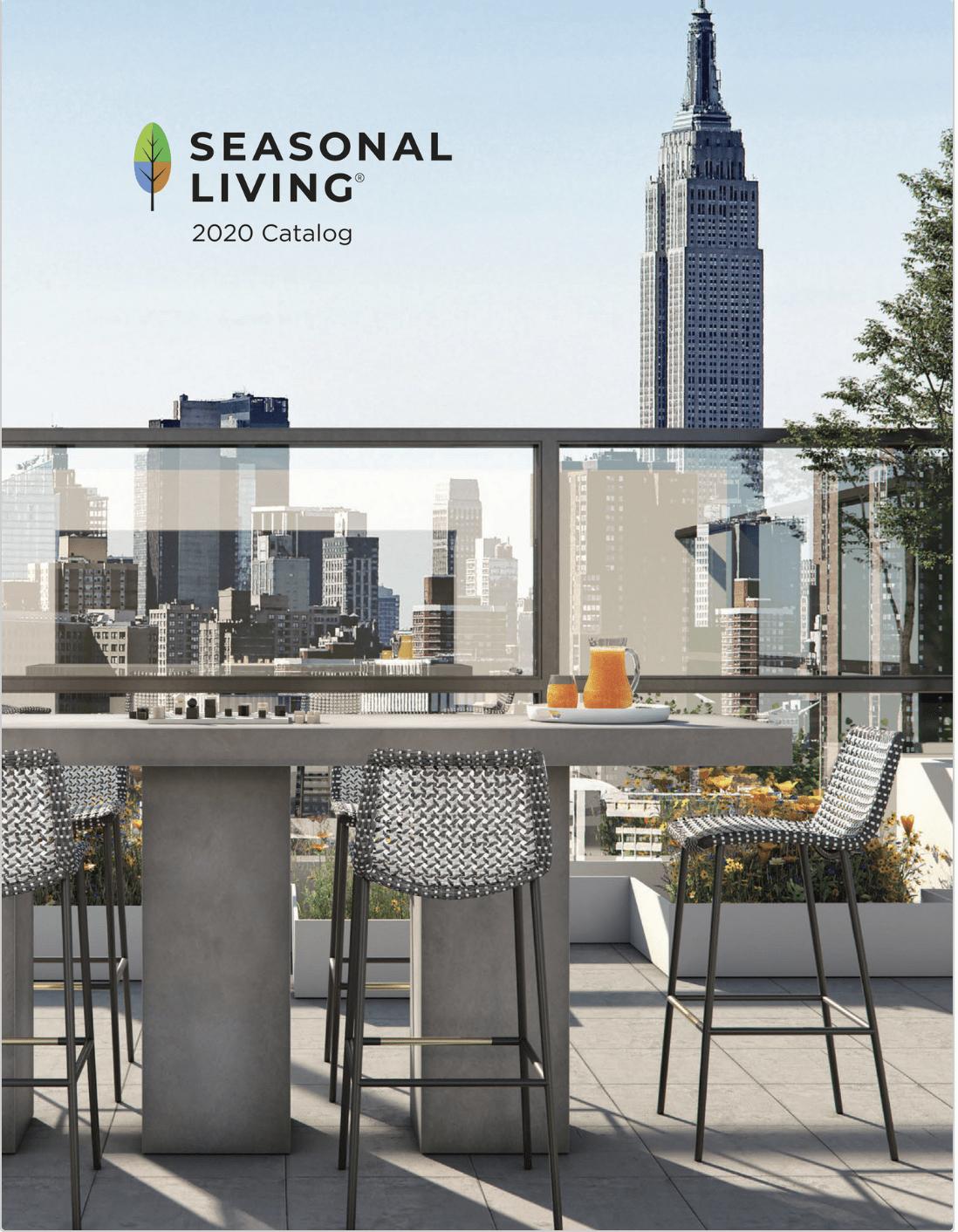 Best Luxury Indoor Outdoor Furniture Seasonal Living New 2020 Catalog Cover