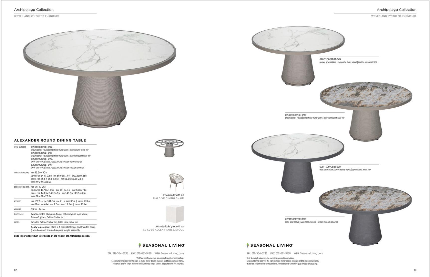 Alexander Dining Table from Seasonal Living best luxury indoor/outdoor furniture