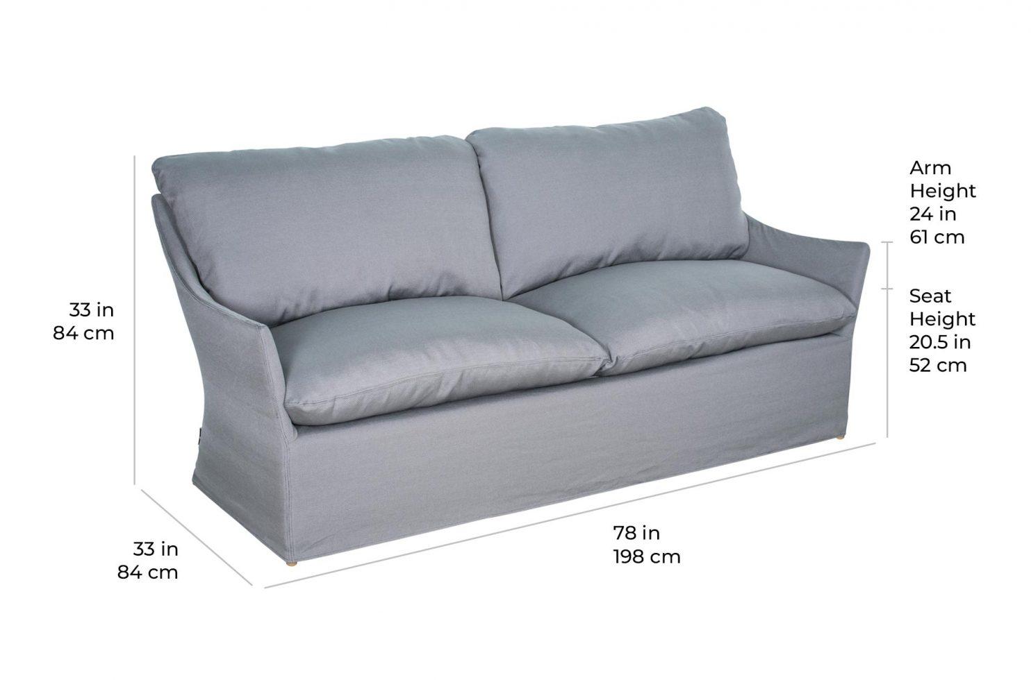 capri sofa 620FT094FC scale dims