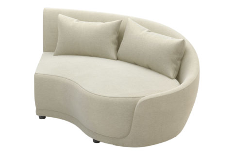 fizz grand royal one arm loveseat 105FT001P2 RAF