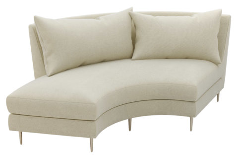 fizz mimosa armless sofa w bumper 105FT003P2 AS LSB