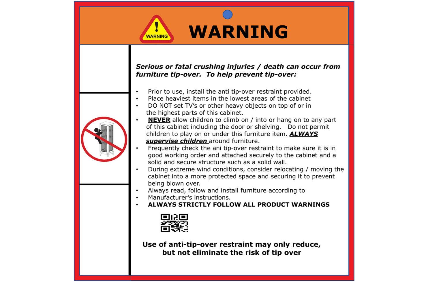 wings cabinet 504FT420P2G E dtl 11 warning label