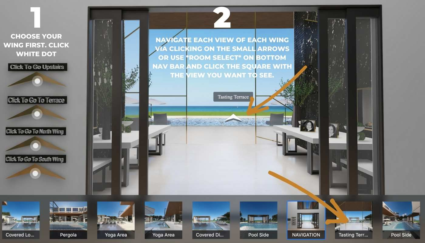 Navigation Information for Seasonal Living Magazine's Digital Showhouse