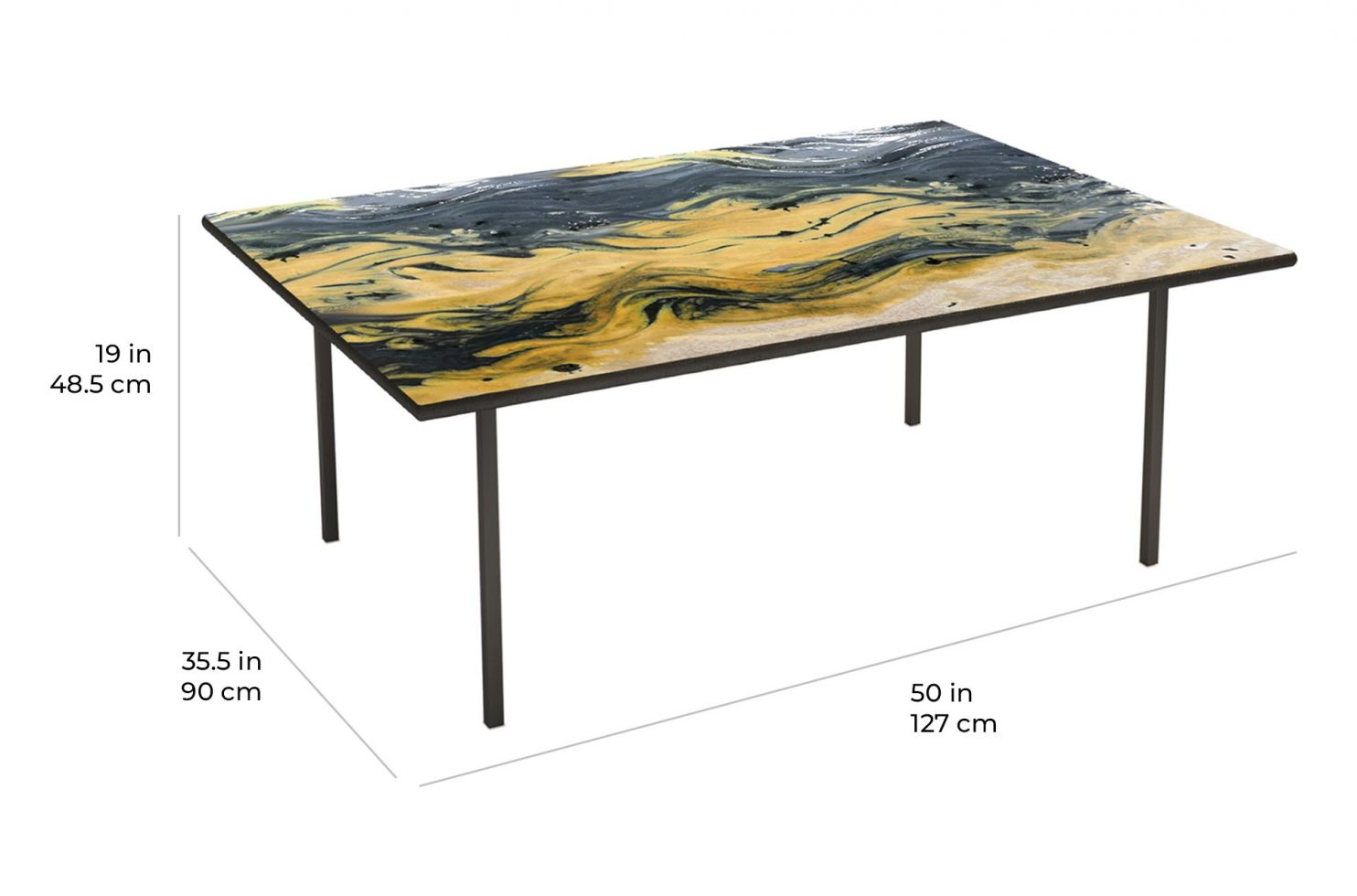 etna coffee rectangle 390FT007P2 scale dims
