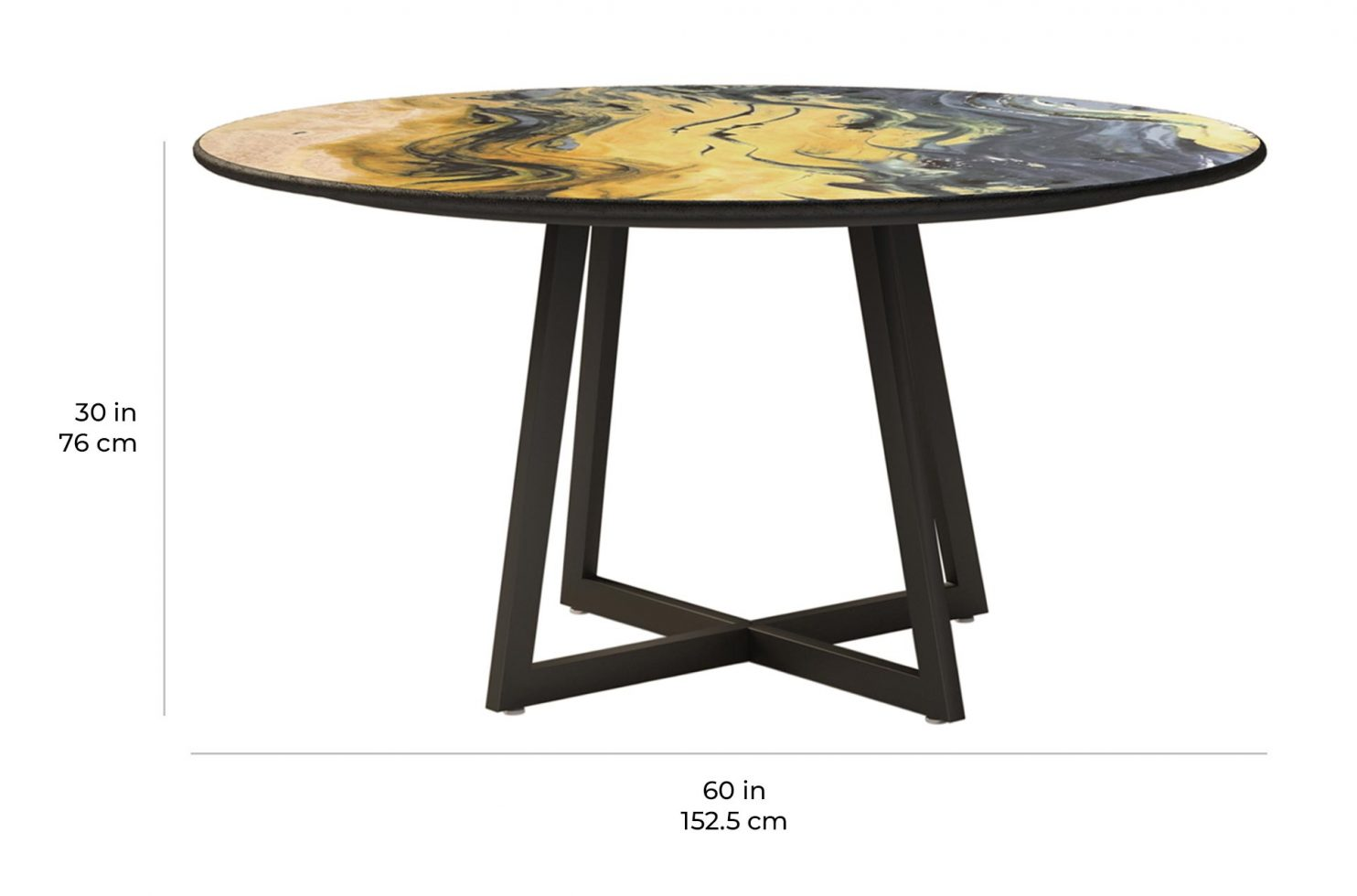 etna dining round 390FT005P2 scale dims
